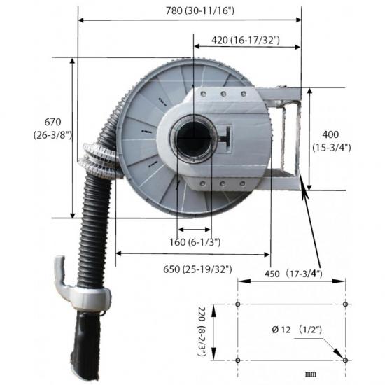 Dujų surinkimo žarnos ritė PRO ECAS-002-100